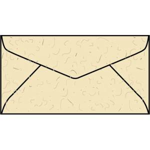 WS1397  3.93 x 7.5 Western Fiber-added regular envelope
